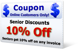 10% Off Senior Discount